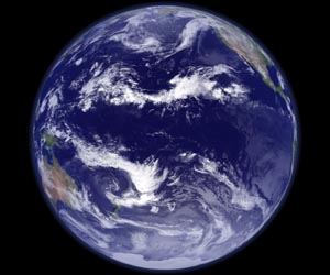 pacific ocean from space  ... Pacific and does
