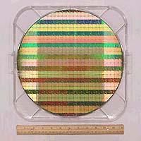 52 Mbit SRAM chips on 300mm wafer. 120 billion transistors on one ...