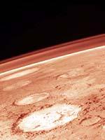 Atmósfera marciana. Crédito: Viking/NASA